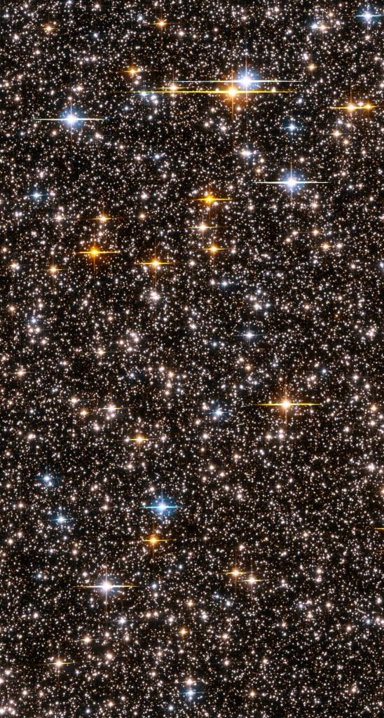 Das Hubble-Weltraumteleskop blickt Richtung Milchstrassenzentrum und sieht knapp 150000 Sterne auf einen Blick (Bild: NASA, ESA, K. Sahu – STScI and the SWEEPS science team).