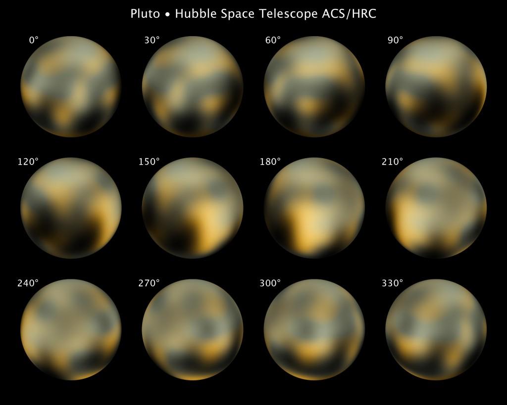 Die derzeit besten Bilder von Pluto (Bild: NASA, ESA, und M. Buie (Southwest Research Institute))
