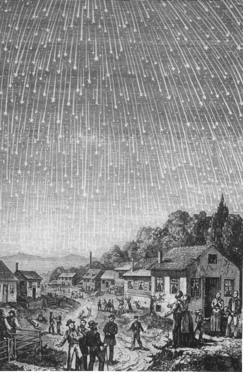 Die Leoniden im Jahr 1833  (Bild:Adolf Vollmy/Karl Jauslin)
