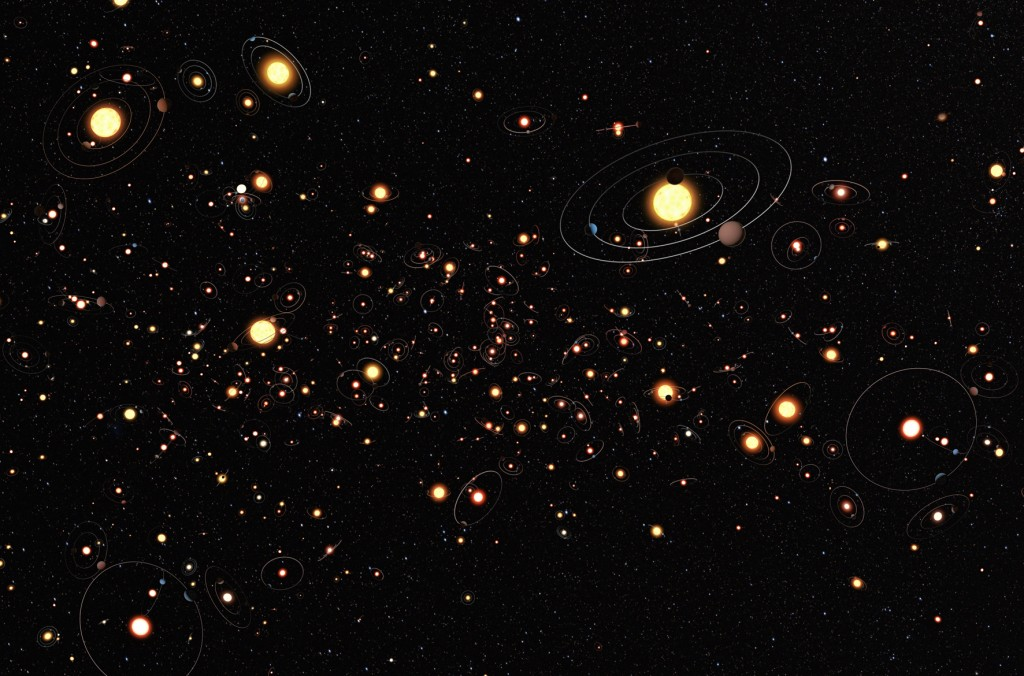 Planeten sind überall! (Künstlerische Darstellung: Europäische Südsternwarte (ESO) / M. Kornmesser)