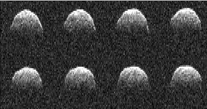 Radardbild von Bennu aus dem Jahr 1999 (Bild: NASA)
