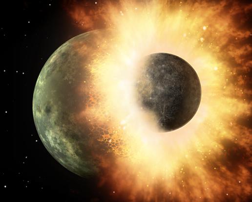 Kollisionen machen auch das Dreikörperproblem kaputt! (Bild: NASA/JPL/Caltech)