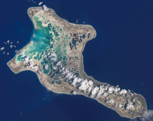 Kiritimati, die Weihnachstinsel (Bild: NASA)