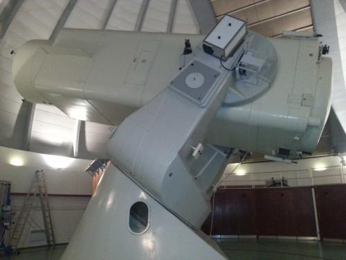 Das größte optische Teleskop Deutschlands in Tautenburg mit dem ein Teil der Nachbeobachtungen durchgeführt worden sind.