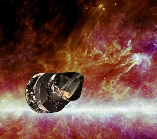 Das Planck-Teleskop: Künstlerische Darstellung (ESA - C. Carreau)