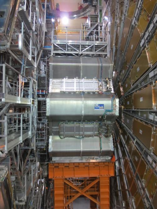 Der gigantische ATLAS-Detektor war jahrelang auf der Suche nach dem Higgs-Teilchen