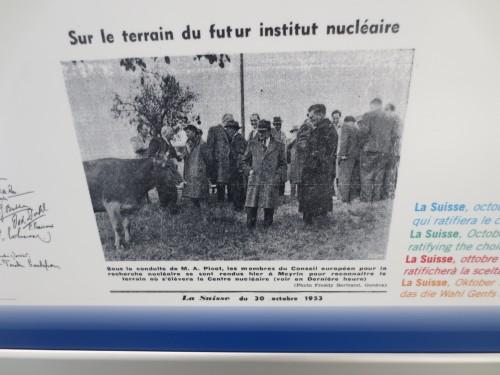 Früher war da nur ne Kuh, heute steht dort das CERN.
