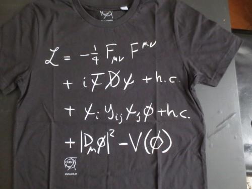 Das Standardmodell der Teilchenphysik muss überarbeitet werden - und alle Tshirts!