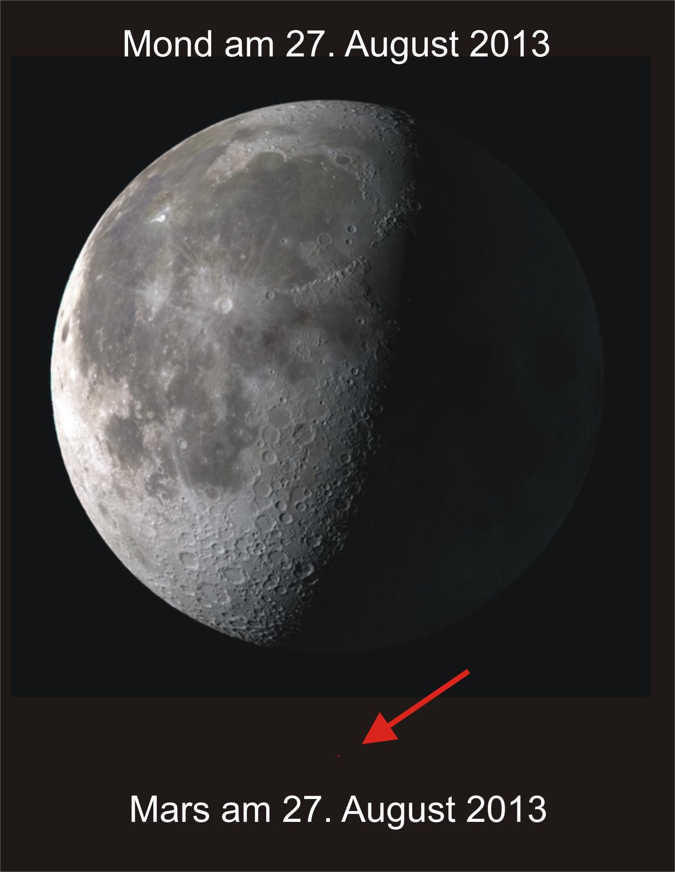 Der Mars Am Himmel So Groß Wie Der Mond Nein Astrodicticum Simplex