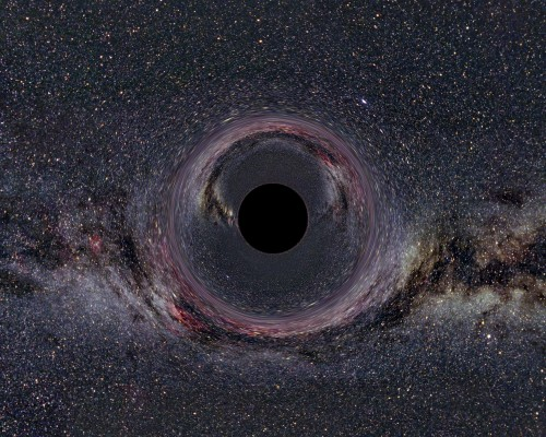 Ein fünfdimensionales schwarzes Loch ist noch schwerer abzubilden als ein normales... (Bild: Ute Kraus, Institute of Physics, Universität Hildesheim, Space Time Travel)