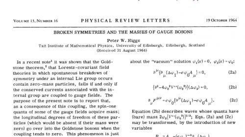 Kurz knapp zum Nobelpreis: Die Arbeit von Peter Higgs