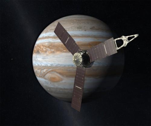 Künstlerische Darstellung von Juno (Bild: NASA/JPL-Caltech)