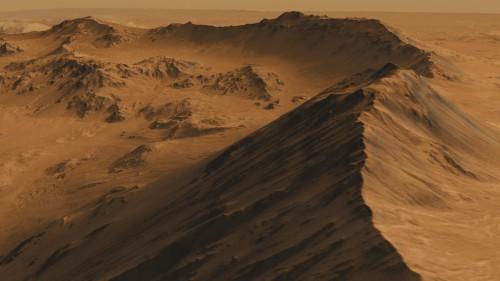 Mojave-Krater (Bild: NASA/JPL-Caltech/Univ. of Arizona)