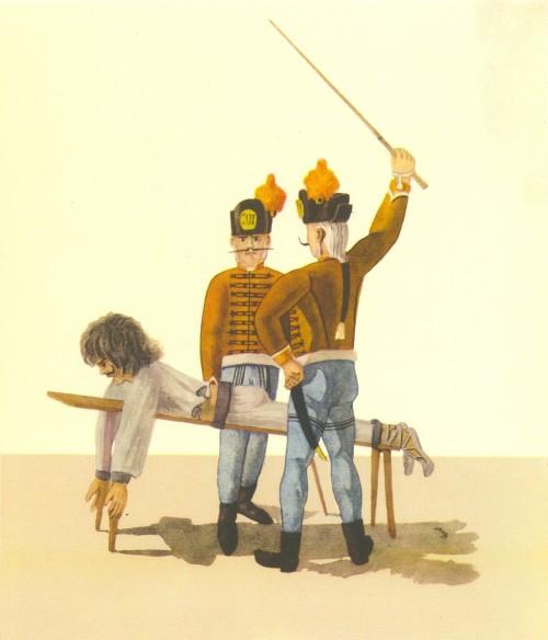 Bestrafung eines Kriminellen in Temeswar (1793, Public Domain)