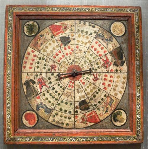 Wie wohl die realen Wahrscheinlichkeiten bei diesem Roulette aussehen? (Bild: Bayerisches Nationalmuseum, München, Inv. Nr. I 14 104, Public Domain)