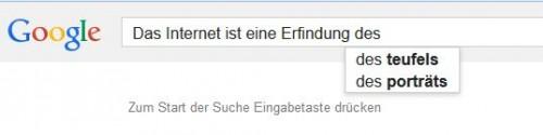 Selbst Google kann es nicht verheimlichen: Das Internet ist eine Erfindung des Teufels!!