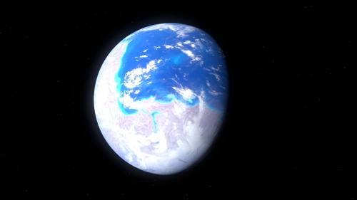Ein Superkontinent ist nicht unbedingt super für das Leben (Bild: Künstlerische Darstellung des Superkonintents Rodinia auf der Erde vor 1,1 Milliarden Jahren. Kelvin Ma, CC-BY-SA 3.0)