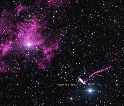 Bild: X-ray: NASA/CXC/ISDC/L.Pavan et al, Radio: CSIRO/ATNF/ATCA Optical: 2MASS/UMass/IPAC-Caltech/NASA/NSF