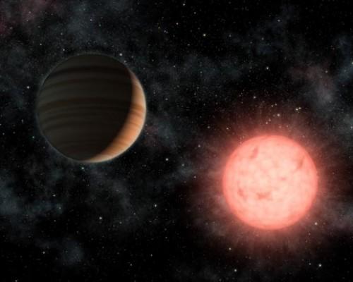 Ein Planet (VB10b) umkreist einen kleinen roten Zwerg (Künstlerische Darstellung: NASA/JPL-Caltech)