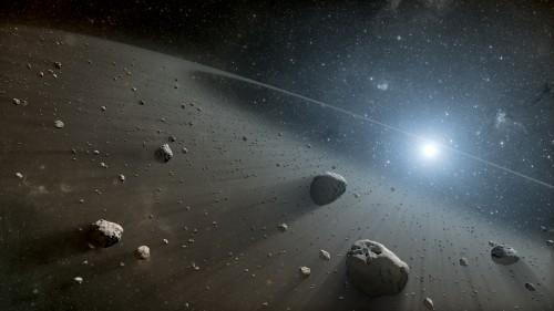 Asteroiden gibt es auch bei anderen Sternen (Künstlerische Darstellung: NASA/JPL-Caltech)