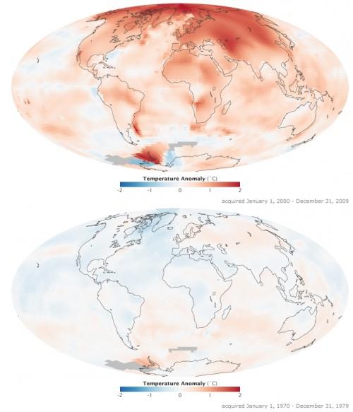 Die Welt wird wärmer, aber keinen interessiert es (Bild: NASA)