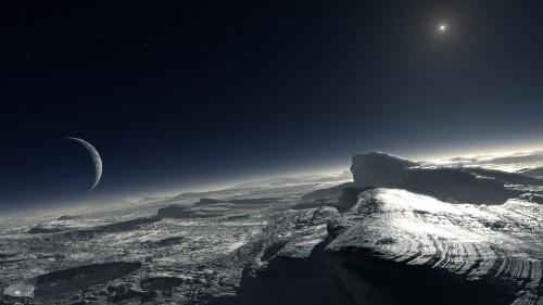 So könnte es auf Plutos Oberfläche aussehen. Genau werden wir es erst 2015 wissen (Bild: ESO/L. Calçada)