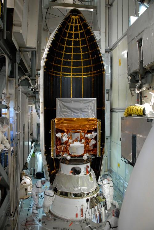 FERMI in seiner Rakete (Bild: NASA