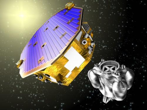 Schon 2015 soll LISA Pathfinder als Test für die eLISA-Mission gestartet werden. Man will demonstrieren, dass die Technik für eLISA auch in der Praxis funktioniert (Bild: ESA)
