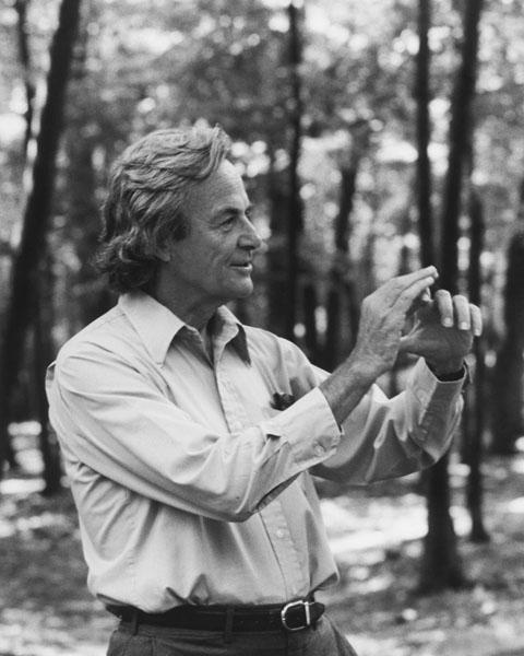 Richard Feynman erklärt etwas (Bild: , Tamiko Thiel 1984, CC-BY-SA 3.0)