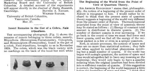 Nature, 9. Mai 1931