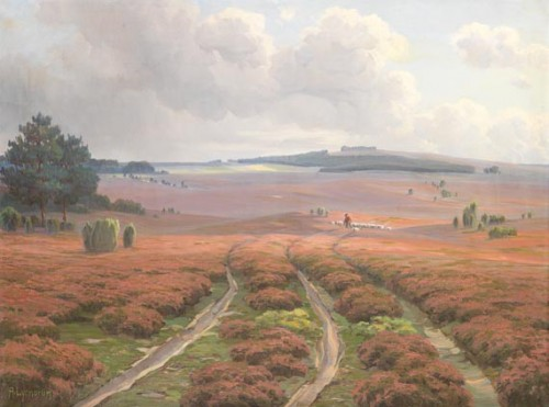 Arnold Lyongrün: Landschaft bei Wilsede nach dem Regen (1911, Public Domain)