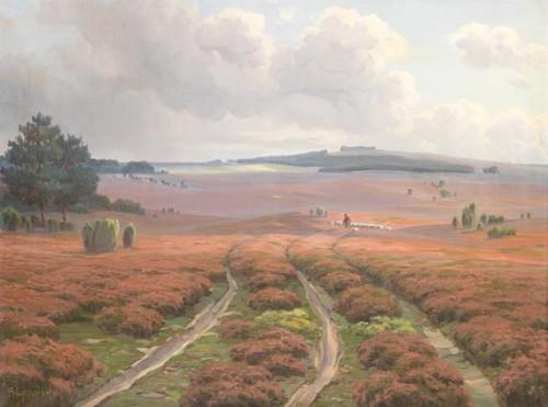 Ich freue mich schon auf eine ruhige Zeit in der beschaulichen Heide (Arnold Lyongrün 1911, Public Domain)