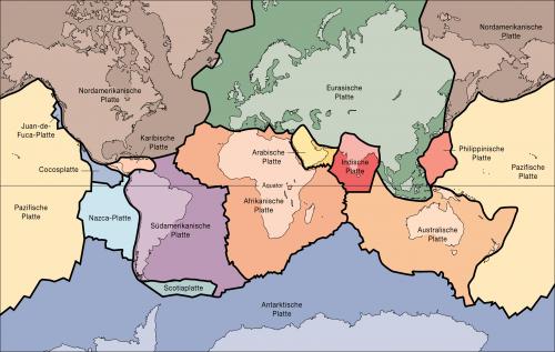Kontinentalplatten sind wichtig (Bild: USGS, gemeinfrei)