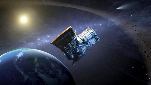 Das WISE-Weltraumteleskop (Künstlerische Darstellung: NASA/JPL)