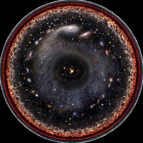 Das Universum ist viel größer als auf diesem Bild!! Bild:  Pablo Carlos Budassi, CC-BY-SA 3.0