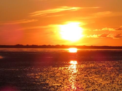 Sonnenuntergang im Wattenmeer - ein Höhepunkt der Reise