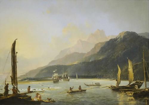 Die Schiffe von James Cook erforschen den Pazifik (Bild: Public Domain)
