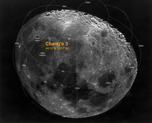 Landeplatz der chinesischen Mission (Bild: NASA, public domain)