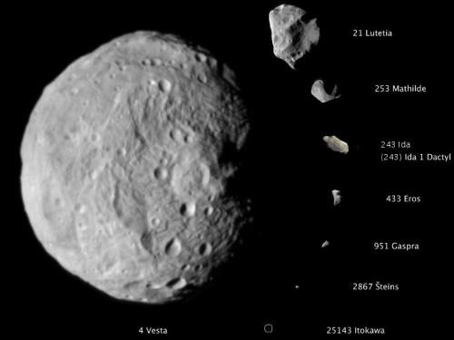 Asteroiden gibts überall! (Bild: NASA/JPL-Caltech/JAXA/ESA)