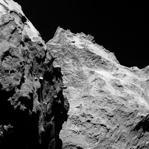 Der Ausblick auf den Kometen am 5. September 2014 Bild: ESA/Rosetta/MPS for OSIRIS Team MPS/UPD/LAM/IAA/SSO/INTA/UPM/DASP/IDA