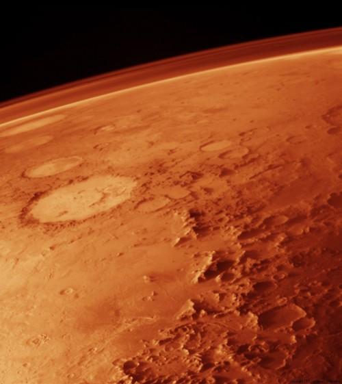 Mars: Heute lebensfeindlich. Aber früher? (Bild: NASA)