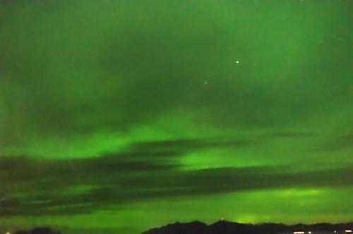 Polarlicht zwischen Skjervøy und Tromsø.