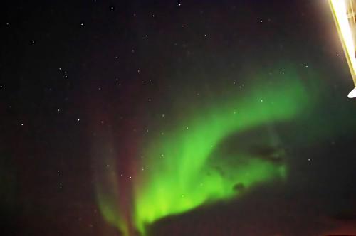 Polarlicht vor Herkules und der Nördlichen Krone
