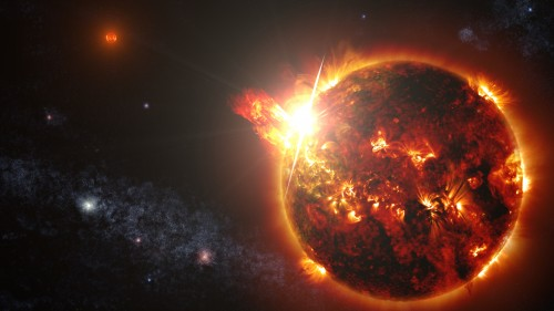 Künstlerische Darstellung von DG CVn (Bild: NASA's Goddard Space Flight Center/S. Wiessinger)
