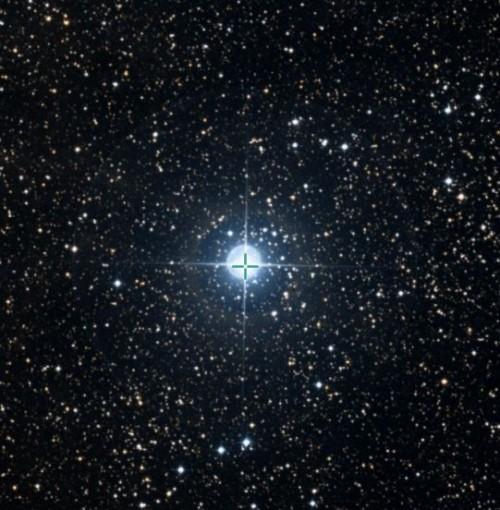 P Cygni auf einer Aufnahme aus dem Digital Sky Survey (DSS), via Simbad, CDS)