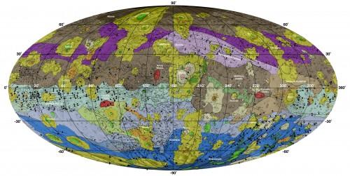 Geologische Karte von Vesta (NASA/JPL-Caltech/ASU)