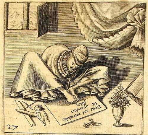 Ob das bei Schreibblockade hilft? (Johann Georg Schenck, 1609)