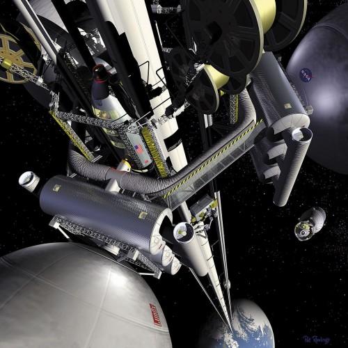 Weltraumlift? Warp-Antrieb? Asteroiden? Wie das alles zusammenhängt, erklärt mein neues Buch (Bild: NASA)