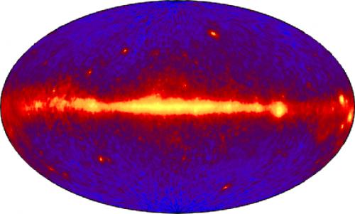 Verteilung der kosmischen Strahlung am Himmel; beobachtet im Röntgenlicht (Bild: NASA)