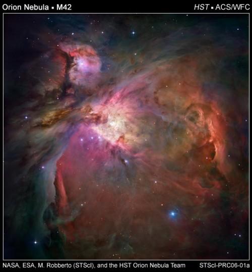 So sieht das Hubble-Teleskop den Orionnebel – aber nicht der Amateurastronom!